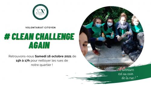 Volontariat Citoyen : Clean Challenge Again !